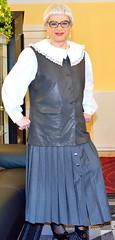 Ingrid022014 (ingrid_bach61) Tags: skirt blouse mature button waistcoat bluse pleated weste faltenrock knopfleiste