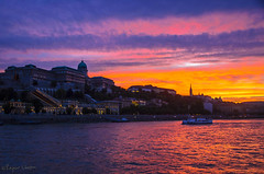 Budapest Sunset On The River-1671 (rajeevchopra.india) Tags: sunset color colour colors clouds river hungary colours budapest danube
