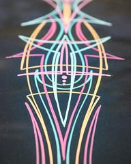 Auto Pinstripes (The Adventures of Kristin & Adam) Tags: auto colour lines car colorful pinstripe pinstripes