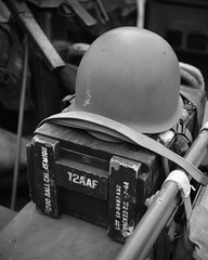 Helmet in a jeep (albionphoto) Tags: usa reading kate pa b17 worldwarii mosquito corsair mustang fifi dday flyingfortress b29 superfortress maam dehavilland p51d