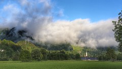 Low Cloud 2 (joseph_donnelly) Tags: trees cloud mountain berg germany landscape bayern deutschland bavaria village low wolken landschaft