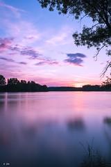 Sunset on the Saone (Stphane Slo) Tags: sunset france reflection nature clouds landscape eau pentax hiver nuages paysage campagne reflexion printemps coucherdesoleil ain sane pentaxk3ii