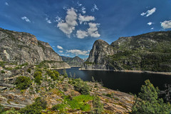 Hetch Hetchy Reservoir, Yosemite National Park (Mastery of Maps) Tags: california park county ca sky lake mountains nature water rock clouds landscape nationalpark spring rocks view bluesky reservoir valley yosemite yosemitenationalpark sierranevada hdr tuolumne hetchhetchy 2016 manmadelake recreationarea kolanarock