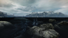 VOEC - 014 (Screenshotgraphy) Tags: bridge sunset mountain lake game nature water colors contrast forest landscape soleil screenshot gare lumire lac ethan steam gaming beaut carter concept paysage vanishing campagne foret beautifull jeu naturelle urbain