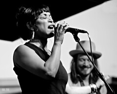 Danielia Cotton b&w (Keith Langerman) Tags: newmexico santafe concertphotography bwphotography vocalists femalemusicians danieliacotton