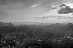 P1180483 (Horizonwalker) Tags: street city sea sky urban blackandwhite cloud building hongkong estate apartment kowloon peninsula wongtaisin lionrock commercialdistrict kowloonpeak kowloonpeninsula residentialdistrict