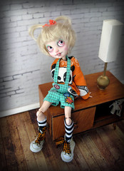She always puts a smile on my face (Pink Anemone) Tags: cute goofy high doll ooak after custom ever repaint alisun