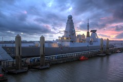0178 (ElitePhotobox2) Tags: navy hms duncan liverpool luminance hdr photo royal mersey river sea sunset war ship warship battle 45 destroyer type linux