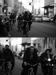 [La Mia Citt][Pedala] (Urca) Tags: portrait blackandwhite bw bike bicycle italia milano bn ciclista biancoenero bicicletta 2016 pedalare dittico ritrattostradale 85576 nikondigitalemir