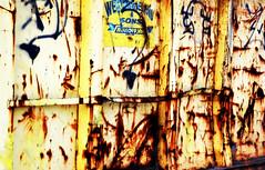 DUMPSTER  ART  - HSS ! (JIM 234) Tags: metal dumpster rust orton hss happysliderssunday
