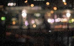 Hard Rain (shimdakyum) Tags: blue rain seoul night window reflection dew drops nikon j5 light street bokeh out focus blur