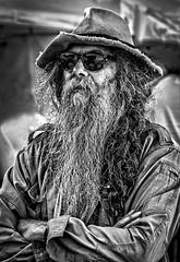 Crossroads Dude (Jim-Mooney) Tags: street portrait people blackandwhite bw white black monochrome photography mono blackwhite fuji candid monotone kansascity crossroads fujinon xt1 50140mm