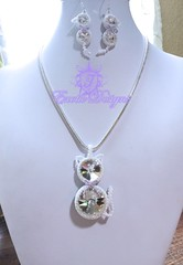 """Meow"" Beaded Kitty in opal and silver delicas #seedbeads (ExoticDesigns) Tags: rivoli beadwork seedbeads beadweaving beadedcat"