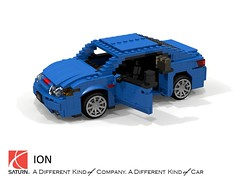 Saturn Ion Quad-Coupe (lego911) Tags: saturn ion quad coupe 2002 2000s compact gm general motors auto car moc model miniland lego lego911 ldd render cad povray lugnuts challenge 104 thescienceofitall science planet chemistry physics