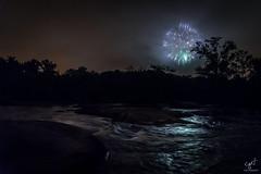 James River fireworks (cpjRVA) Tags: virginia richmond landscape nature river jamesriver a7ii sonyalpha 4thofjuly fireworks jrps va rva