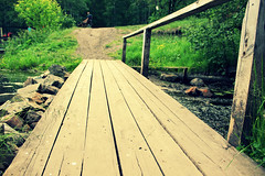 () Tags: road bridge wooden path walk route deck trail porch transition footpath   bridgeoverriver