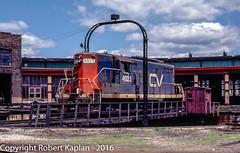 230, St. Albans, VT, 6-1980 (Rkap10) Tags: railroad other vermont places albums locomotives centralvermont gp79 railroadslidescans