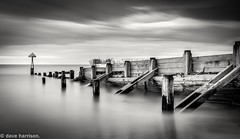 secret of the sea  (explored 10/6/16) (dave_harrison56) Tags: blackandwhite mono seascapes northumberland northsea breakwater seatonsluice canon24105 verylongexposure canond70