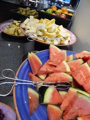 Some of the fresh fruit (seikinsou) Tags: summer food orange apple fruit breakfast restaurant hotel midsummer sweden watermelon diningroom pineapple meal melon umea scandic