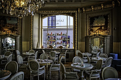 The Chocolate Shop (Steve Mitchell Gallery) Tags: travel brussels shop architecture buildings restaurant store cafe interiors belgium chocolate diner hotchocolate cocoa hotcocoa belgiumchocolate worldchocolateday
