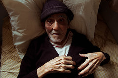 Papa Len 3 (odyaleon) Tags: family sunset portrait color bed venezuela grandfather oldman caracas