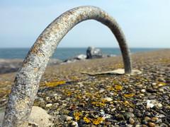 sea wall (Jackal1) Tags: sea detail metal rust scenery dof view seawall depthoffield