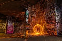 Urban Firework Sphere on the Shortest Night (Alex Harbige) Tags: urban london fireworks sphere embankment