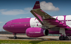 WOW Air A330-300 over taxiway Q (Nicky Boogaard) Tags: classic amsterdam wow airport aviation air united croatia delta airbus boeing airlines schiphol a330 tui airfrance 767 737 astana a319 dmaviation