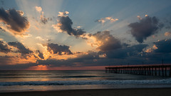 _DSC1516 (chriswheatley97) Tags: obx outer banks north carolina nags head fishing pier morning sunrise ocean beach sand clouds sun
