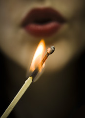 Hot (yafit770) Tags: hot macro canon fire flame burn match redlips t5 hotcold macromondays
