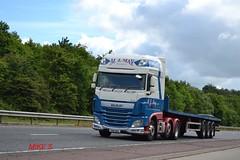 DAF XF 'M.J. May Transport' reg PN16 BHA (erfmike51) Tags: lorry artic flatbedtrailer dafxf euro6 mjmaytransport
