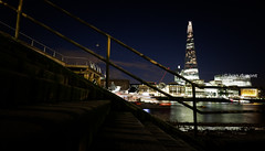 The Shard in the London night, England (monsieur I) Tags: longexposure greatbritain summer london water skyline architecture night skyscraper river europe unitedkingdom thecity wideangle renzopiano thethames theshard monsieuri