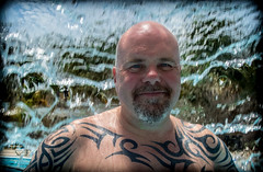 In front. A waterfall. (CWhatPhotos) Tags: pictures sky sun holiday hot water pool june tattoo digital swim ink pose that island four photography hotel design cool day skies foto arms image artistic time pics chest cuba sunny pic olympus images shades tribal tattoos wear clear have tryp photographs coco photograph fotos shoulders cuban shoulder which contain cayo inked hols tatts tattooed 2016 hirds hoteltryp hoteltrypcayococo cwhatphotos
