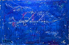 Deep (1975) - Antnio Sena (1941) (pedrosimoes7) Tags: blue portugal azul painting lisbon bleu cc creativecommons pintura mnac portuguesepainter artgalleryandmuseums museunacionaldeartecontempornea pintorportugus ecoledesbeauxarts antniosena peintreportugais