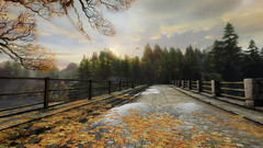 VOEC - 033 (Screenshotgraphy) Tags: sunset sky mountain lake game nature colors architecture clouds contrast montagne landscape pc screenshot lumire couleurs country lac ethan steam gaming ciel beaut carter concept nuages paysage vanishing campagne beautifull jeu naturelle urbain