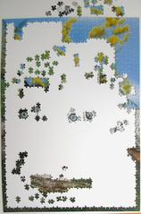 Peterchen und Katti (Leonisha) Tags: puzzle unfinished jigsawpuzzle