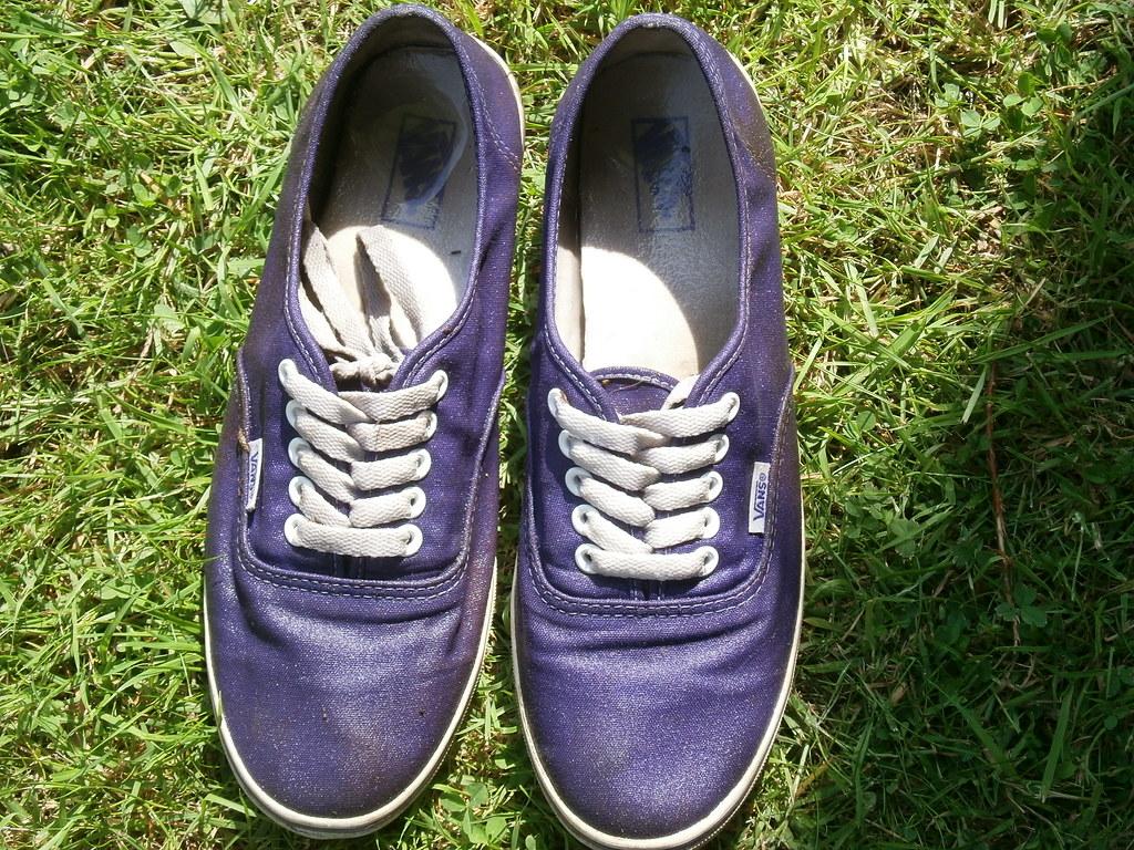 22e5dc89da Muddy Purple Vans (eurimcoplimsoll) Tags  trash shoes mud sneakers trainers  canvas vans plimsoles