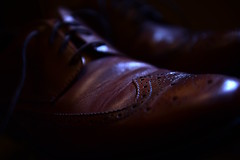 Day Two Hundred Sixty Seven (fotoJared) Tags: brown leather june nikon shoes sharp d750 28 365 wingtips 2470 strobist 365project fotojared