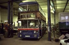 Ex TWM 6610, Scarborough, 1999 (Lady Wulfrun) Tags: noc610r 6610 walsall scraborough conversion rebuild playbus mobile classroom 1999 april wmt wmpte fleetline parkroyal westmidlands twm
