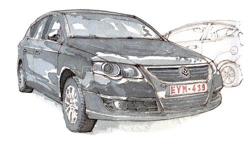 some cars (gerard michel) Tags: auto car sketch aquarelle watercolour croquis