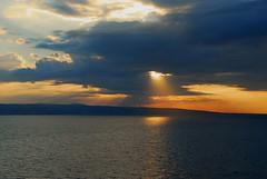 Sunrise (petrk747) Tags: cruise sunset sea sky italy sun reflection weather clouds port sunrise coast heaven lazio orangeskies esenciadelanaturaleza cloudyformation maneuverentrance civitavetchia