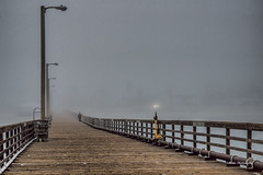 Heading Home (stephencurtin) Tags: ocean california wood sea usa color water fog lights coast pier san waves photograph luis pilings posts avila cental thechallengefactory stephencurtin