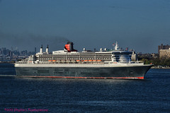 Queen Mary 2 heading out to Sea (Phyllis Featherstone) Tags: newyorkcity worldtradecenter statenisland qm2 queenmary2 reallyrightstuff nikond3200 newyorkharbor fortwadsworth ftwadsworth phyllisfeatherstone reallyrightstuffhead queenmaryvz050313 sigma18250macrolens