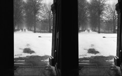 Winter Diptych (David Stumpp |[o]| Photography) Tags: uk winter england white snow cold 120 6x6 film home church rolleiflex photoshop gate christ kodak britain tmax scanner united great meadow meadows freezing kingdom national oxford plus epson medium format mf pelicula snowing six developed ilford fp4 geographic planar pellicola 35f v500 cs6 wwwdavidstumppcom