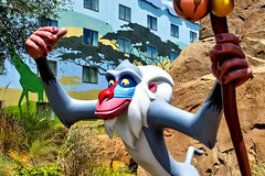 Rafiki (Gary Burke.) Tags: travel vacation film canon movie eos rebel hotel orlando florida character disney resort disneyworld animation fl wdw dslr waltdisneyworld rafiki mandrill lionking disneyresort garyburke disneyanimation klingon65 artofanimation t1i canoneosrebelt1i disneysartofanimationresort