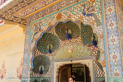 Peacock Gate (leon_roland) Tags: india museum peacock adventure jaipur oat citypalace
