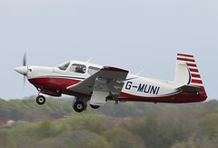 G-MUNI Mooney M20J-201 Glasgow Prestwick 11/5/13 (Pwkman) Tags: scotland airport aircraft aviation mooney prestwick pik gpa prestwickairport southayrshire egpk m20j glasgowprestwick gmuni