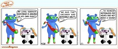 Ndbag-The-Boogeyman-Comic-Strip-128-EN (ndbag) Tags: silly cute amazing sock funny panda comic mask adorable hero superhero webcomic boogeyman sockman pandaman ndbag