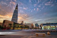 AL Faisaliah Tower (Edward Patanao) Tags: longexposure sunset tower sunrise photography cityscapes riyadh saudiarabia ksa faisaliah alfaisaliah d700