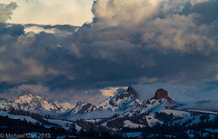 Clearing Storm - Sierra Nevada (Michael Carl) Tags: california mountain snow storm clouds landscape snowy nevada sierra peaks clearingstorm